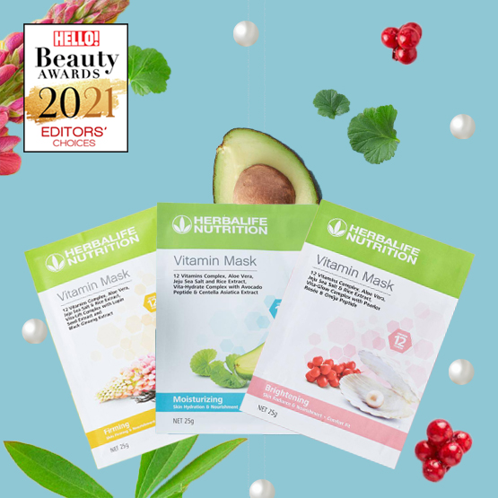 ตัวช่วยเพื่อผิวแลดูสุขภาพดีกับ Herbalife Nutrition Vitamin Mask (เฮอร์บาไลฟ์ นิวทริชั่น วิตามิน มาส์ก) สุดยอดมาส์กหน้า 3 สูตรที่อัดแน่นด้วยคุณค่าจากวิตามินรวม 12 ชนิด