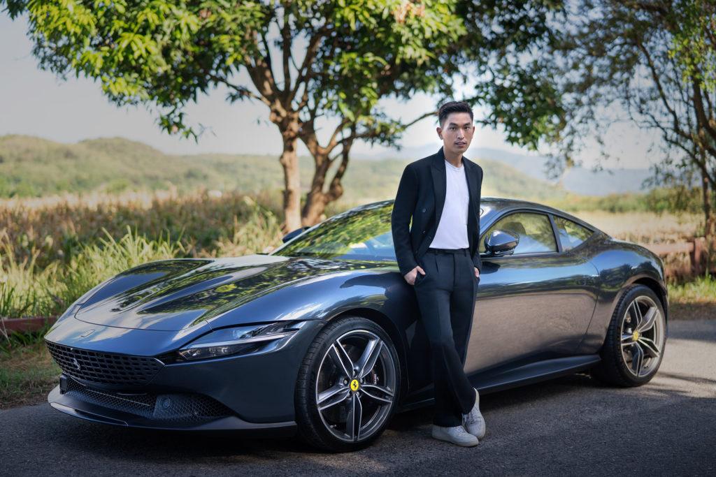 ภูผา เตชะณรงค์ Test Drive Ferrari Roma